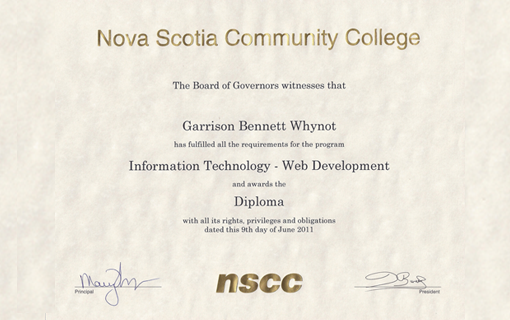 My Certs and Diplomas